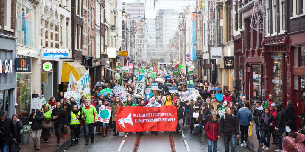 Beeldcampagne Klimaatparade PCM Peoples Climate March Act-Impact
